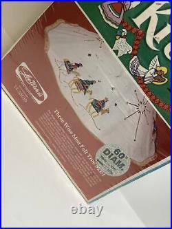 Lee Wards Christmas Tree Skirt Kit'Three Wise Men Felt 60