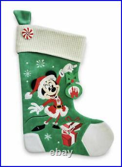 Lot of 3 Disney Mickey & Minnie Christmas Tree Skirt & 2 Stockings NWT