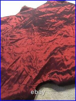 Luxurious Burgundy Gold Faux Fur Trim 60 Christmas Tree Skirt Neiman Marcus