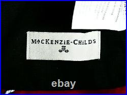 MACKENZIE CHILDS COURTLY CHECK JINGLE BELL TREE SKIRT 60x 60 BRAND NEW