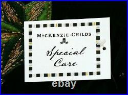 MacKenzie Childs 60 BLACK & ORNAMENTS CHRISTMAS TREE SKIRT BRAND NEW