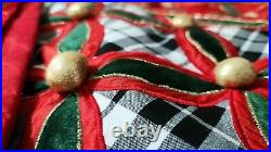 MacKenzie Childs Yuletide Embroidered 60 Tree Skirt Incredibly Rare