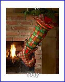 Mackenzie Childs Velvet Courtly Check Tablecloth Christmas Tree Skirt & 2 Shams