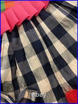 Mackenzie Childs Victoria and Richard Tree Skirt Christmas Silk