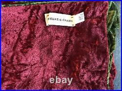 Mackenzie Childs Woodland Tree Skirt Velvet Feathers Pine Cones Bird Nests Mint
