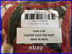 Mackenzie-Childs Yuletide Plaid Tree Skirt NEW IN PACKAGE #72450-1108