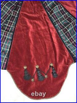 Mackenzie childs VINTAGE Tree Skirt/Christmas Velvet