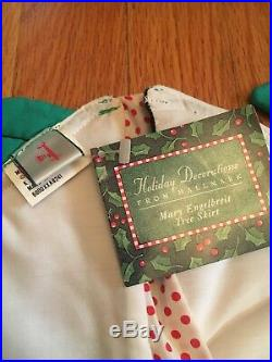 Mary Engelbreit 1992 Hallmark Christmas Tree Skirt NWT Super Rare! 48