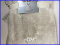 Most Amazing Southern Living White Faux Fur Tree Skirt 60 Christmas Winter NEW