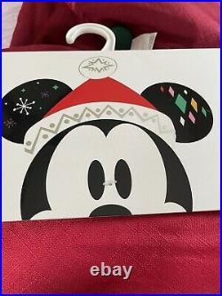 NEW Disney Parks Embroidered Christmas Tree Skirt Mickey Minnie