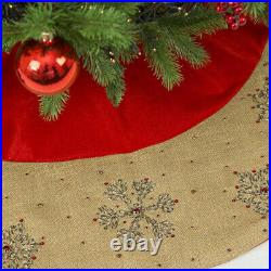 NEW Infingo All I Want For Christmas Tree Skirt Red