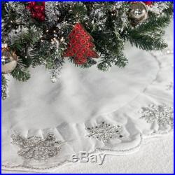 NEW Infingo Angel Christmas Tree Skirt Silver