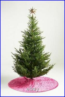 NIP ANTHROPOLOGIE Rory Tree Skirt PINK ROSE 60 Velvet Modern Glam