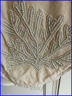 NWT Kim Seybert Neiman Marcus Coastal Ocean Beaded Christmas Tree Skirt 62