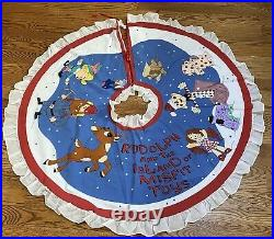 NWT Vintage 1999 Rare Christmas Tree Skirt Rudolph Land of Misfit Toys 52 Inches