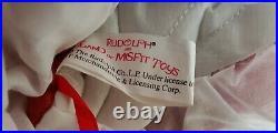 NWT Vintage1999 Rudolph Land of Misfit Toys X-mas 52 Tree Skirt. Music Works