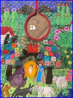 Nativity Scene Applique Christmas Tree Skirt
