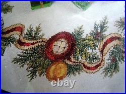 Needle Treasures Christmas Counted Tree Skirt KIT, DAZZLING ORNAMENTS, 02952,40