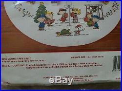 Needle Treasures Christmas Cross Stitch Tree Skirt Kit Sing Along Peanuts 02853