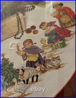Needle Treasures Christmas Pageant Tree Skirt Cross Stitch Kit Nativity Scene