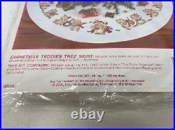 Needle Treasures Tree Skirt Counted Cross Stitch Christmas Teddies