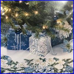 Needle Treasures Winter White Tree Skirt Cross Stitch Kit 02985 Christmas NIP