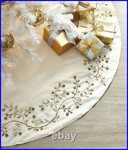 Neiman Marcus Exclusive Jeweled Vine Christmas Tree Skirt