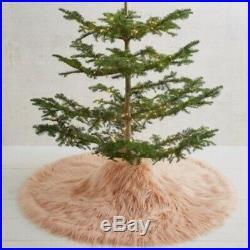 New Anthropologie Faux Fur Shag Pink Tree Skirt