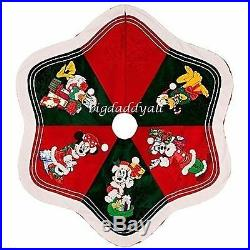 New Disney Parks Santa Mickey Mouse and Friends Christmas Tree Skirt RETIRED
