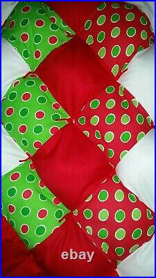 New Handmade Quilted Style Christmas Tree Skirt