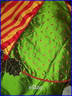New Mackenzie Childs Holly and Berry Tree Skirt 54