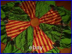 New Mackenzie Childs Holly and Berry Tree Skirt 54 High Quality Sold Out