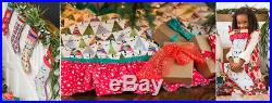 New Matilda Jane Christmas Trimmings Tree Skirt & Matching Stocking 6 Piece Set