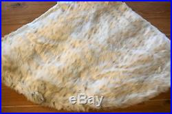 New Pottery Barn FAUX FUR Christmas Holiday Tree Skirt Large 60