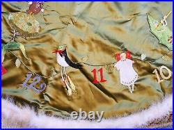 PATIENCE BREWSTER for MacKenzie Childs 52 CHRISTMAS TREE GREEN SKIRT BRAND NEW