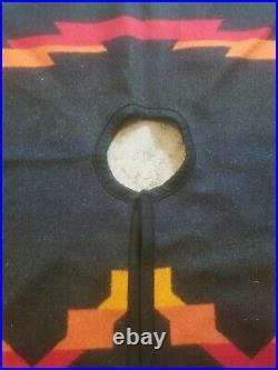 Pendleton Wool Christmas Tree Skirt Native American Southwestern Reversible HTF