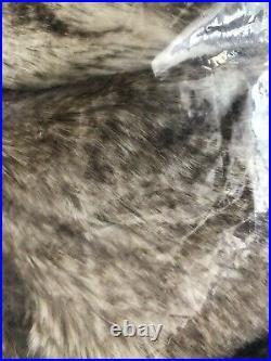 Pottery Barn Carmel Ombre Faux Fur Tree Skirt Christmas Decor New
