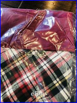Pottery Barn Christmas 2 Denver Plaid Stockings Tree Skirt Set Decor No Mono New