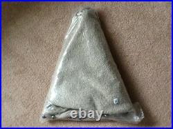 Pottery Barn Cozy Teddy Faux Fur Jingle Bell Tree Skirt Gray 60 New