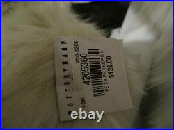 Pottery Barn faux fur Tree skirt Christmas light fox New wo tag