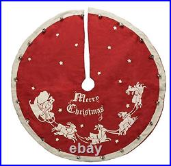 Primitives by Kathy Red Vintage Tree Skirt 52 Inch