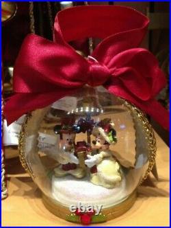 RARE 2010 Disney Parks Mickey Victorian Christmas Tree Skirt, Stocking, ornament