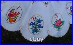 RARE FINISHED Bucilla Christmas Jeweled Tree Skirt Kit 2318 12 DAYS OF CHRISTMAS