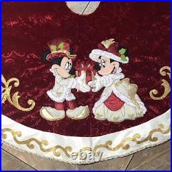 RARE VHTF 2010 Disney Parks Mickey Victorian Christmas Tree Skirt