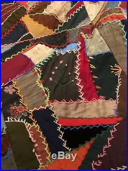 Rare Antique Primitive 1800's Festive Quilt made into Christmas Tree Skirt
