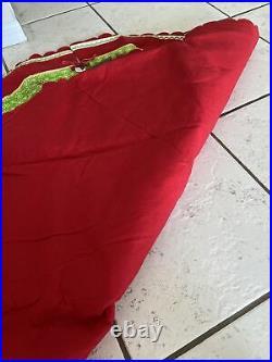 Rare Disney store LG embroidery mickey minnie pluto christmas tree skirt