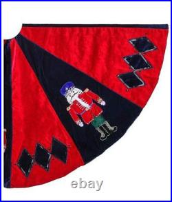 Red Black Harlequin Nutcracker Ballet Soldier 64 Christmas Tree Skirt