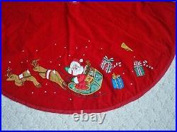 Red Christmas Tree Skirt