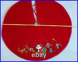 Red Velvet Christmas Tree Skirt Beautiful