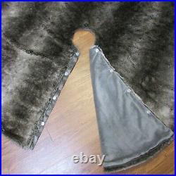 Restoration Hardware Luxe Faux Fur Christmas Tree Skirt MINK 58 Gorgeous